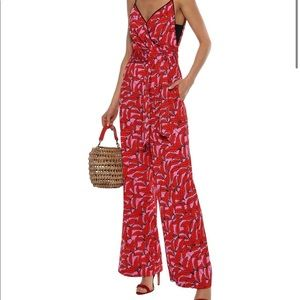 NWT size 4 Barry printed cady wrap jumpsuit